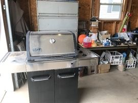 weber gas grill, file cabinet