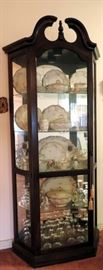 CHINA CABINET WITH HAVILAND LIMOGES CHINA