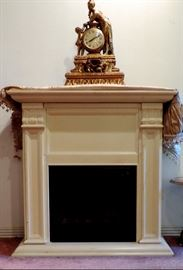 ELECTRIC HEATER/WHITE MANTEL
