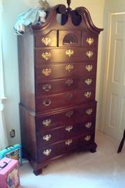 Statton  mahogany high boy chest of drawers.