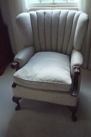 Vintage barrel back chair.