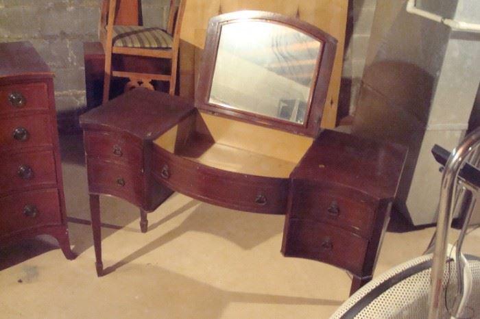 Vintage mahogany vanity.