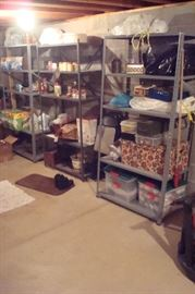 Shelving and misc. items.