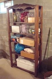 Antique Craftsman period bookcase and misc. items.