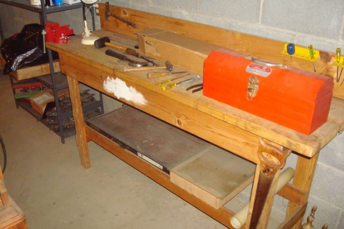 Work bench, tool box and misc. tools not shown.