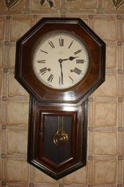 Antique school house clock.