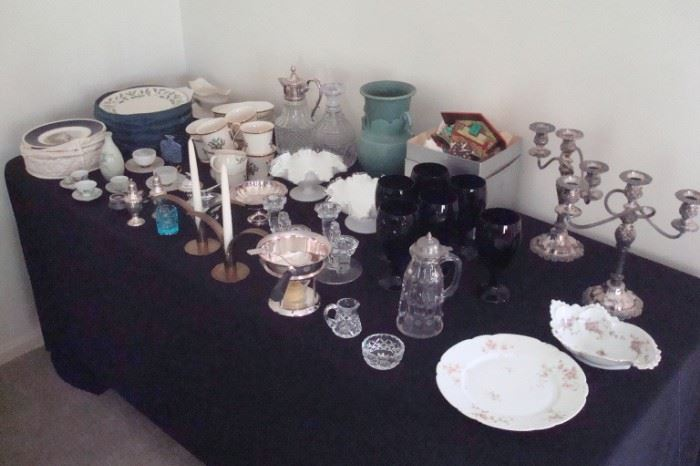 Table of collectibles.