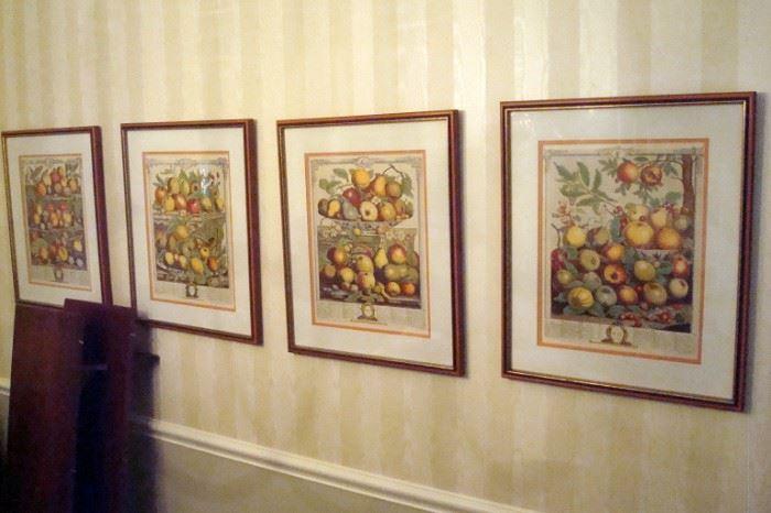 Four of ten vintage prints.