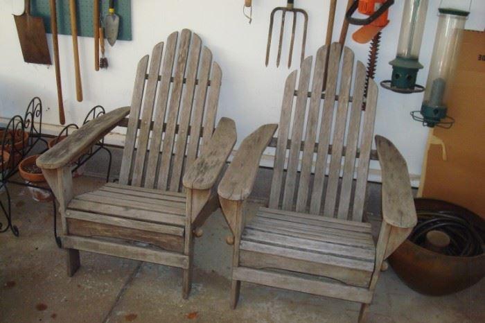 Pair Adirondack chairs and etc.