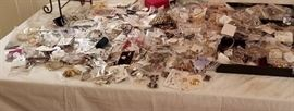 Over 800 pieces of jewelry this is not even a third of it in the picture