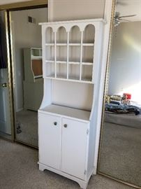 Vintage white small cabinet
