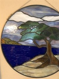 Beautiful stained glass Torrey Pine Tree