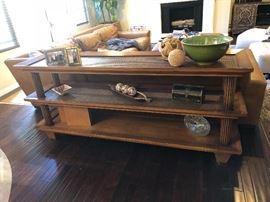 Custom Woven Sofa Table