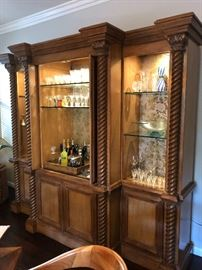 Large, lighted, magnificent Kreiss bar cabinet