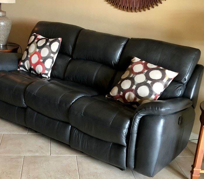 leather, recliner couch - plug it in and see how comfortable it is.