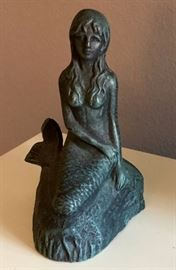 heavy mermaid statue