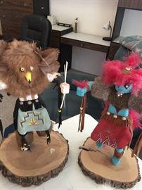 Lovely selection of Kachina dolls and southwest items