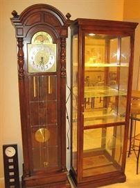 Grandfather Clock and Display Case