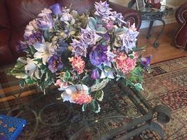 Custom made silk flower arrangements $25