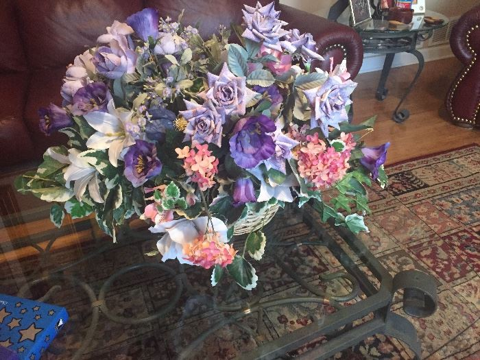 Custom made silk flower arrangements $25
