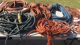 Air hoses and extension cords