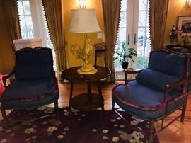 Chairs -matching set of 2, Rooster Lamp, Side Table