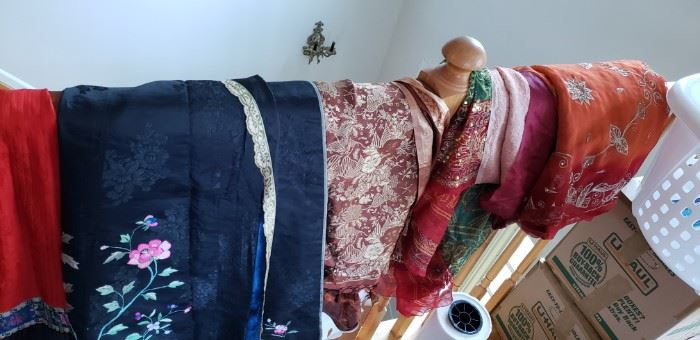 fabric, material, tapestry from multiple countries