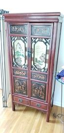 GORGEOUS ONE OF A KIND ARMOIRE. Was used in the Master Bedroom but would be stunning in any room! Originally $1200+.  Make an offer. In person this is absolutely beautiful and unique