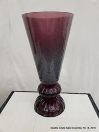 Vintage tapered glass lamp