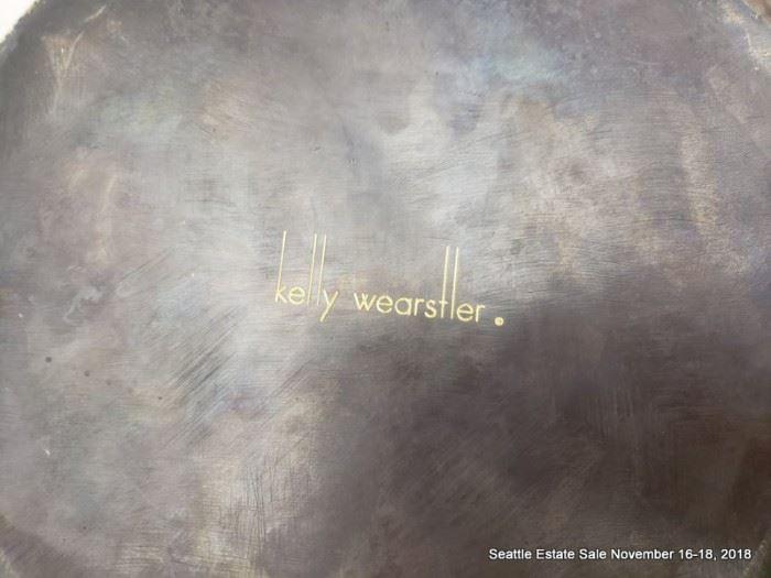 Kelly Wearstler designed bronze cone accent.