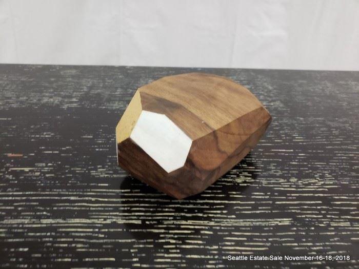 Haley Ann Robinson hand-made painted wood gem.