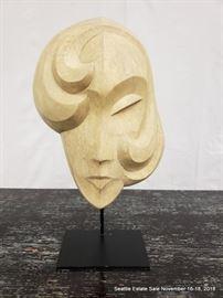 "Cast and signed ""A. de Kecter"" Art Deco bust"