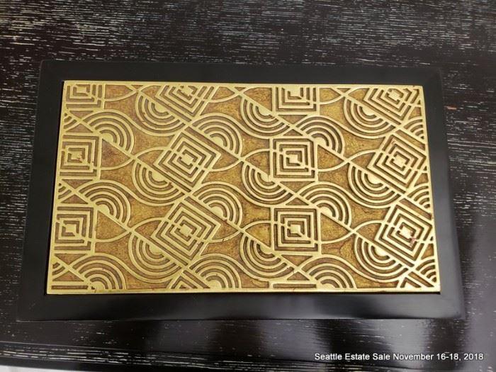 Gilded-top Art Deco Dresser Box