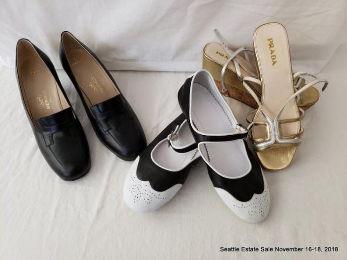 Prada, Hermes, Chanel shoes