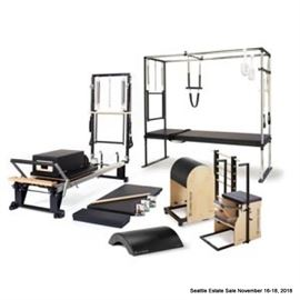 Stott Pilates Studio Grouping to include: V2 MAX PLUS Reformer, Cadillac, Reformer Box and more. Photo representational.