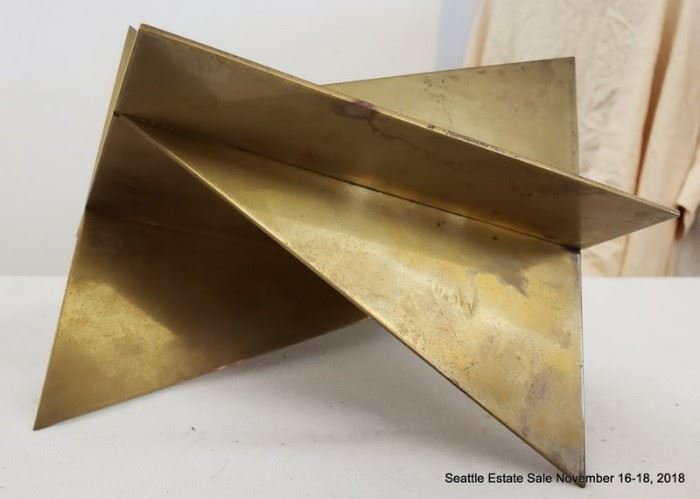 Frans Wuytack (Belgian 1934-) constructed brass modern sculpture.