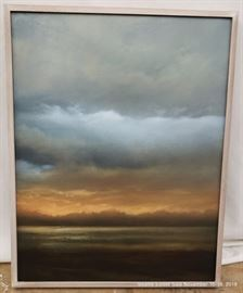 """Sunset Painting signed on the reverse.Approx. Size: 20.5"""" x 26"""""""