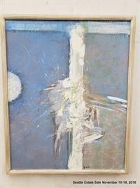 """Abstract painting on canvas signed Cros '71Approx. Size: 24"""" x 30"""""""