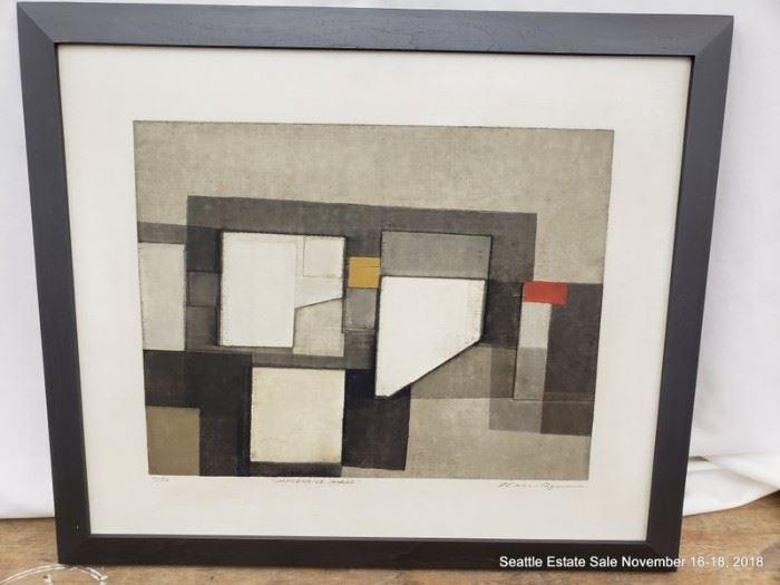 """Norio Azuma """"Impressive Image"""" #11/50 Serigraph on Canvas Approx. Size: 14.5"""" x 18"""""""