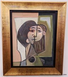 "Bernard Glasgow ""Paulina"" oil on canvasboard. circa 1940. The estate of the artist.Approx. Size: 17"" x 14"""