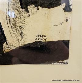 "John E. Lynch Oil on paper ""Cyclops""Approx. Size: 11.5"" x 10"""