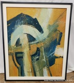 """A. Robinson oil on canvas abstract painting.Approx. Size: 24"""" x 30"""""""