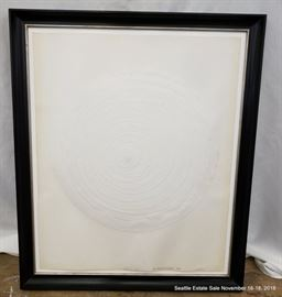 """Paper & Gesso construction by William Fredericksen dated 1989 Approx. Size: 28"""" x 23"""""""