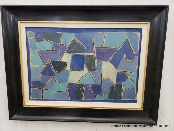 """Paul Klee offset lithograph on canvas.Approx. Size: 24"""" x 16"""""""