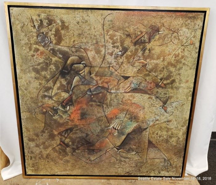 """Salvatore Provino, oil on canvas Untitled Abstract #9.Approx. Size: 39"""" x 39"""""""