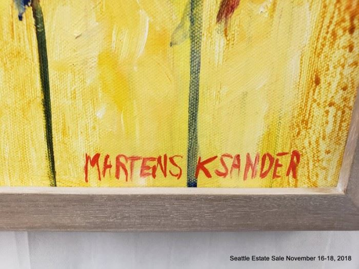 """Martens Ksander Painting Still Life with Flowers.Approx. Size: 16"""" x 15"""""""