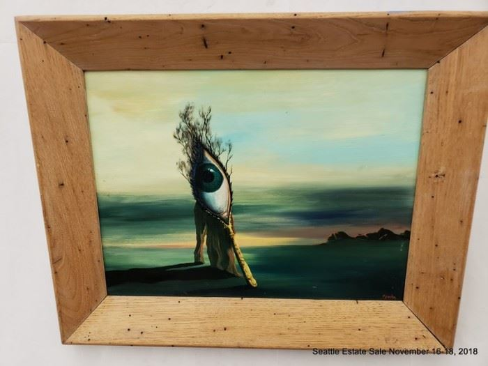 """Oil painting """"The Memory of Orpheus by Sqyadra"""
