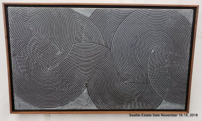 """Duane Hatchett, oil painting. Concentric Patterns Approx. Size: 15"""" x 26"""""""