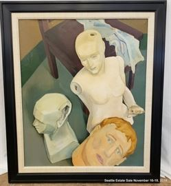 """Oil painting """"Mannequins"""", unsigned. Approx. Size: 36"""" x 30"""""""