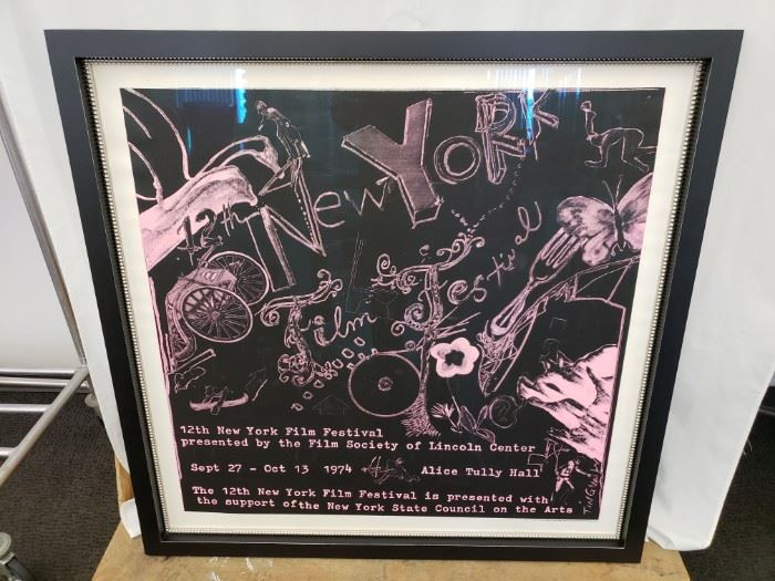 """12th New York Film Festival framed poster.Approx. Size: 36"""" x 36"""""""